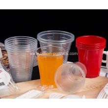 Red Disposable PP Plastic Cup