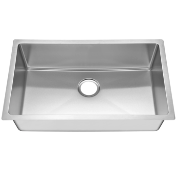 Single rectangular stainless steel sink