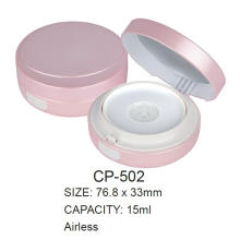 Round plastic cushion compact case