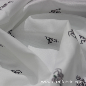 Wholesale printed cotton tencel twill fabric for dress