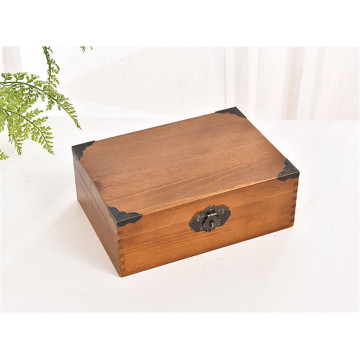 Antique Finish Wooden Box With Lock