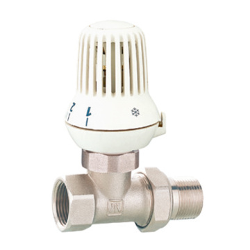 Polished Nickel Plated Brass Straight Radiator Valve