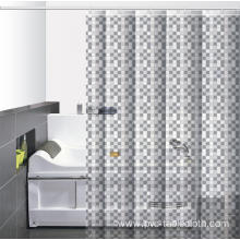 Waterproof Bathroom printed Shower Curtain Rod