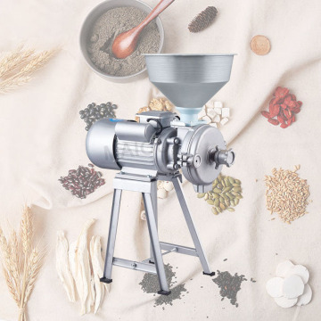 1.5kw Home use Dry and wet peanut butter maker Grain mill grinder powder Refiner for beans tofu sesame chili sauce corn flour