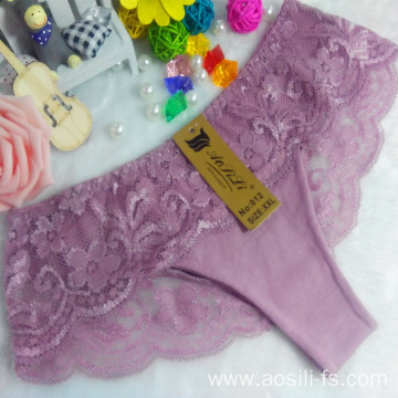 OEM wholesale China cheap panty cameo brown sexy cotton lace elastic new style fancy underwear 012