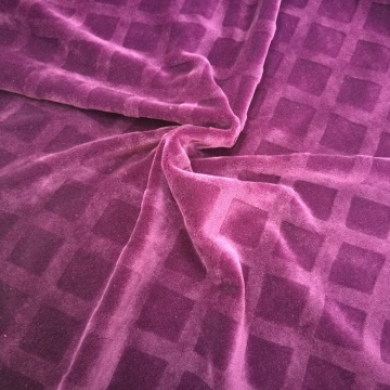 Polyester Spandex Motii Clipped Velvet Jacquard Fabric