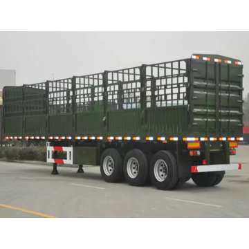 3 Axle Storage Stake Truk Semi Trailer