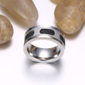 Custom Mens Wedding Band With Cable Inlay