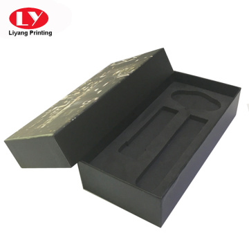 black unique wrist watch box with foam