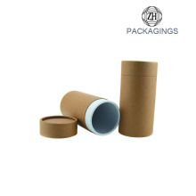 Brown kraft paper cardboard tube for bottles