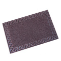 Welcome coil door mat joint for foot cleaning