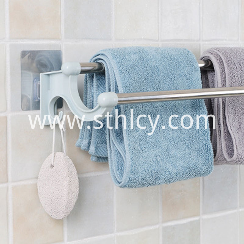 Punch Free Double Pole No Trace Towel Rack