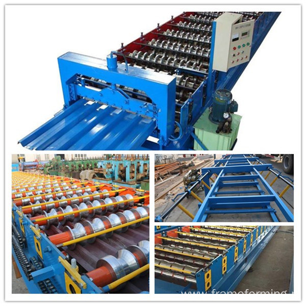 glazed tile metal roofing roll forming  machine
