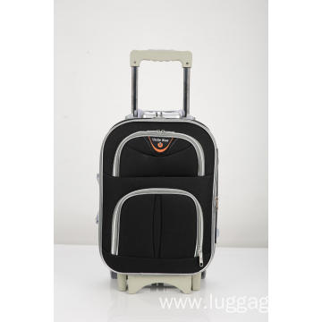 Expandable Silver zipper luggage