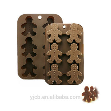 man shape Silicone gingerman cookie cake molds