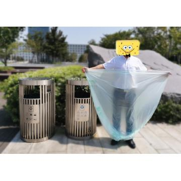 100% Biodegradable Compostable Bioplastic Outdoor Trash Bag