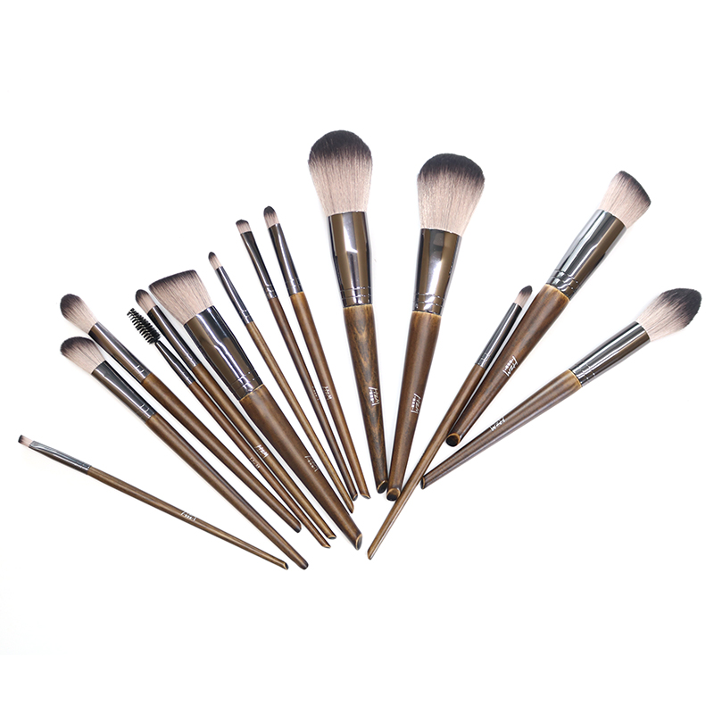 14 Solid wood Makeup Brush 8