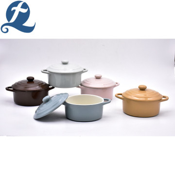 Production Binaural Soup Pot Set with Lid