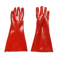 30cm Gloves lined with red glossy cotton