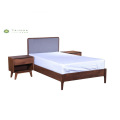 Solid Wood Single Bed W1200 Sa Grey Cushion