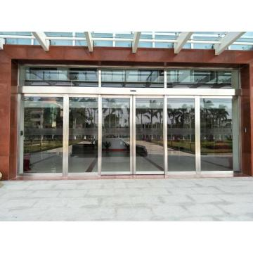 Automatic Stainless Steel Glass Double Sliding Door