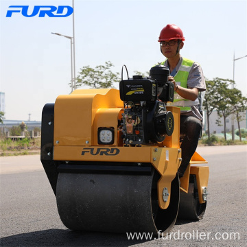Flexible Walking 700KG Vibratory Double Drum Compact Roller