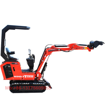 800kg mini digger 0.8 ton small excavator with swing arm
