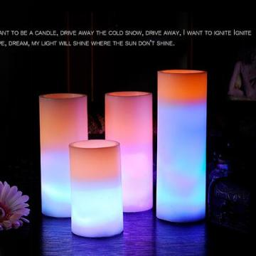 LED color changing candles with flameless remote control