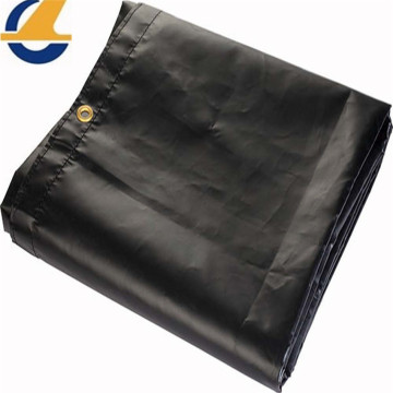 Black  Vinyl Canvas Tarps