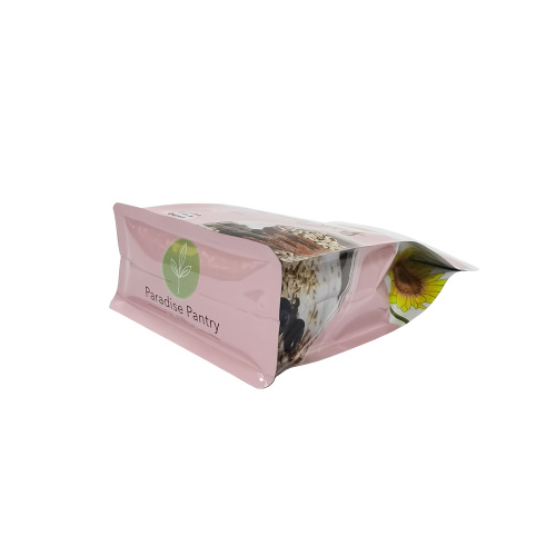 block bottom PE laminated snack bag for sunflower seeds packgaing