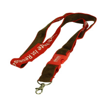 Double layer Lanyard with softness short floss