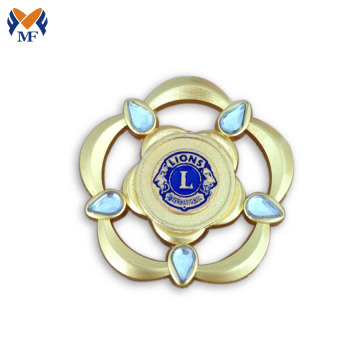 Flower decoration brooch lapel pin badge