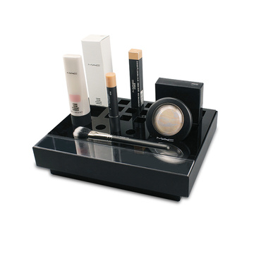 Apex black acrylic makeup cosmetic merchandising display