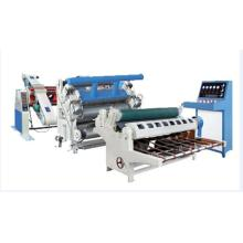 Vacuum single face corrugated board making machine