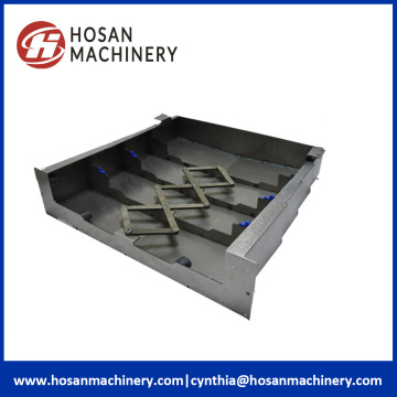 Telescopic Steel Cover CNC Machine Bellows Shield
