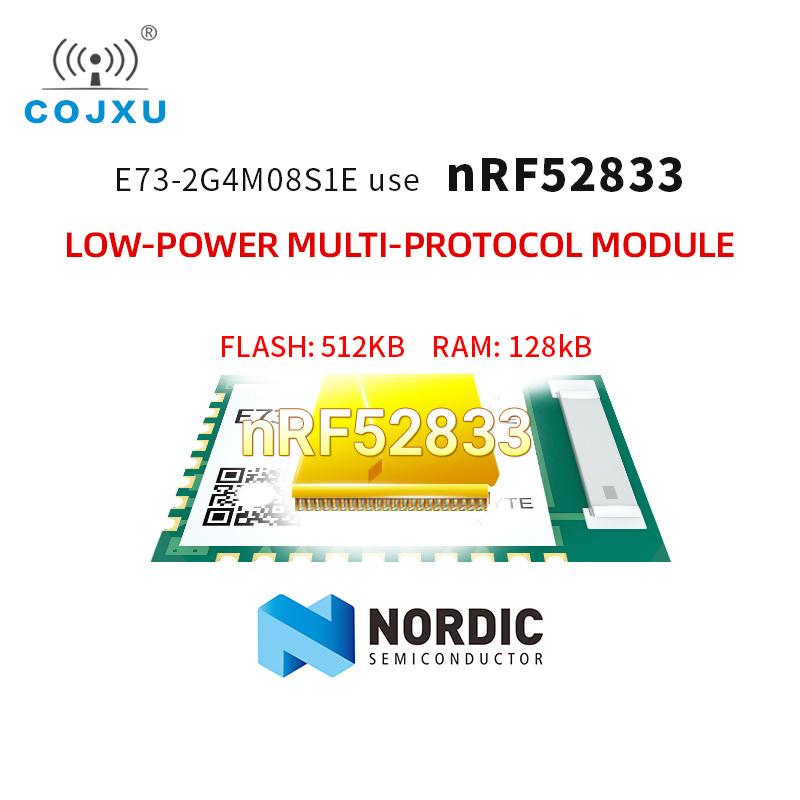 E73-2G4M08S1E nRF52833 module BLE5.1 Zigbee low-power multi-protocol module SMD Wireless Transceiver Transmitter Receiver