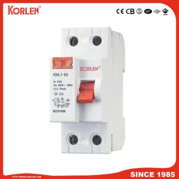 Residual Current Circuit Breaker KNL1-63 3KA TUV 2P