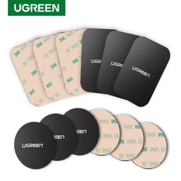 Ugreen Car Phone Holder Metal Plate Disk For Magnetic Car Phone Holder iRon Sheet For Magnet Mobile Phone Holder Car Stand Mount