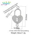 Juya 100% Handmade Zircon Insert Jewelry Findings Gold Heart Locket Connectors Accessoris For Women Jewelry Making