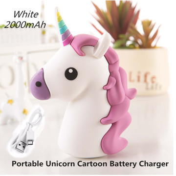 2000mAh Portable Power Bank Charging Case for iPhone Samsung Huawei OPPO Unicorn Cartoon Power Bank USB Battery Charger Case