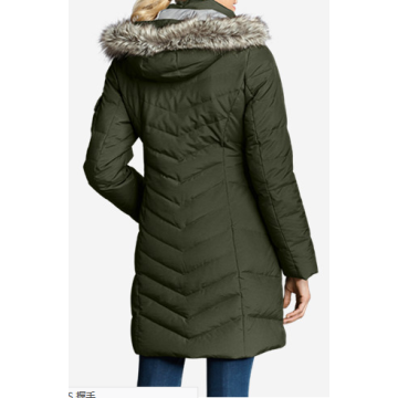 Goose Down Feather Coat Women Outwear Parka