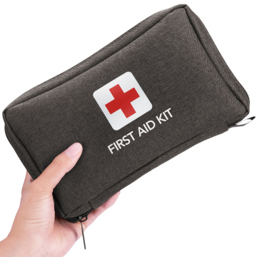 first aid kit with supplies for travel