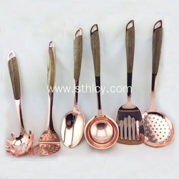 Hot Selling Stainless Steel Rose Gold Cooking Utensils