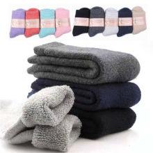 Men Women Winter Warm Socks Thick Heavy Duty Wool Blend Work Hiking Boot Socks Winter Warm Thermal Ankle Socks Unisex