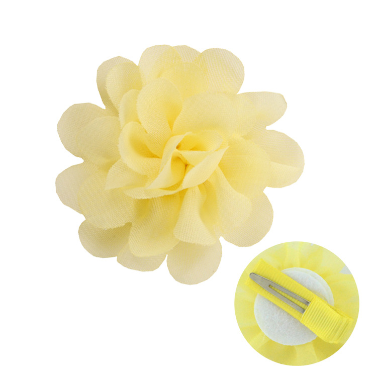 Chiffon flowers with hairpin hair accessories for children (5)