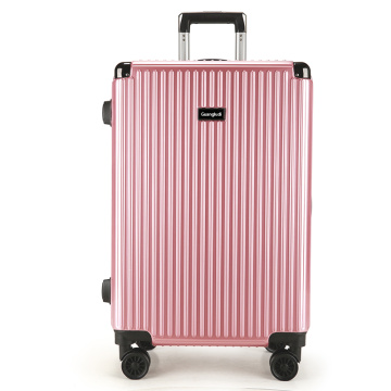 Hard shell carry on rose gold set