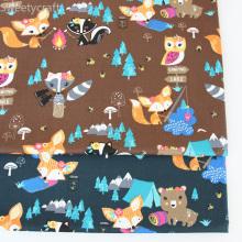 160x300cm Cotton Twill Fabric Cartoon Fox Printed Cloth Sewing Quilting Fabrics for Patchwork Needlework DIY Handmade Material