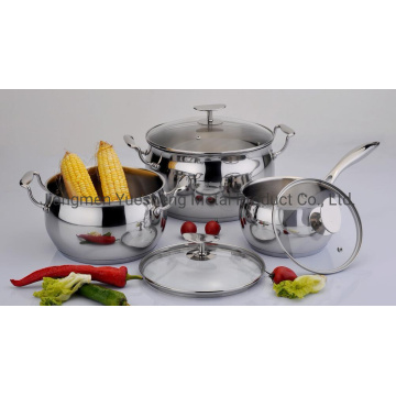 Stainless Steel Kitchenware Apple Shape Cookware Set