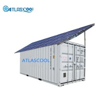 Solar powered refrigerated containers cold storage for fish