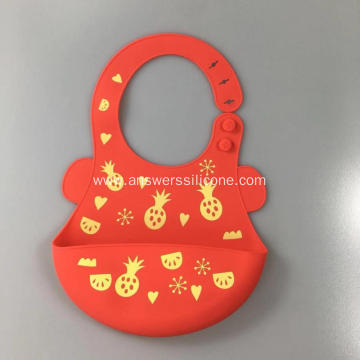 Waterproof Soft Silicone Baby Bib Baby Food Bib